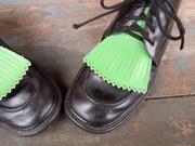 SOLD Vintage Unisex Faux Leather Kiltie Shoe Tassel Inserts Golf Shoe Trim Shoe Accent Shoe Accessory Choose Your Color
