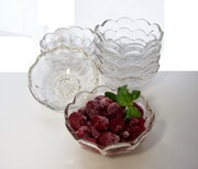 Vintage Heisey Berry Bowls 8 Crystal Dessert Serving Dishes Colonial Star Burst Design Made In USA 1909-1929