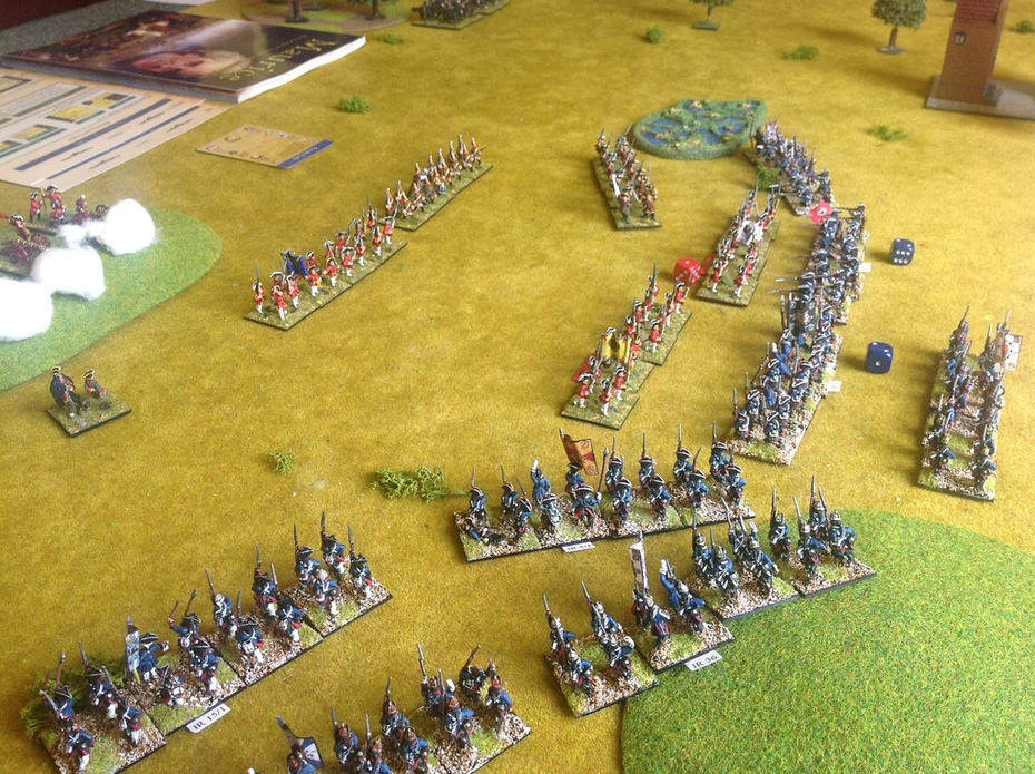 Seven Years War miniatures game using 'Maurice' rules