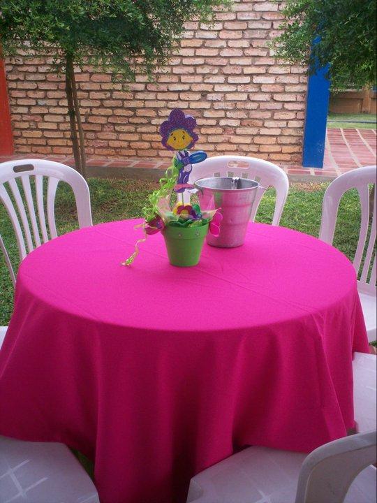 fiesta fifi y los floriguitos centros de mesa