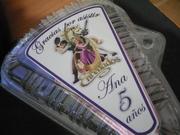 Rapunzel cajitas para porcion de torta