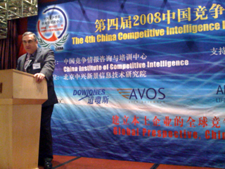 Joe Goldberg at CICI 2008 Conference in Shanghai