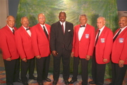 Lee  Pitts with the world famous Tuskegee Airmen