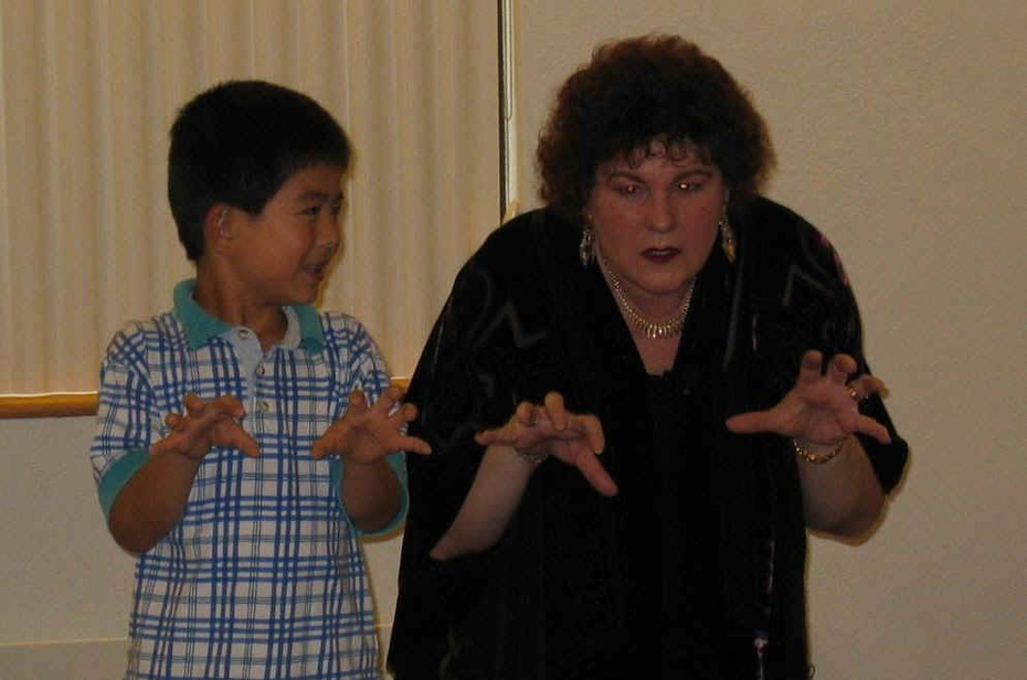 Fletcher Library show with Leeny and student