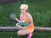 Me, Broccoli and Herb Garden