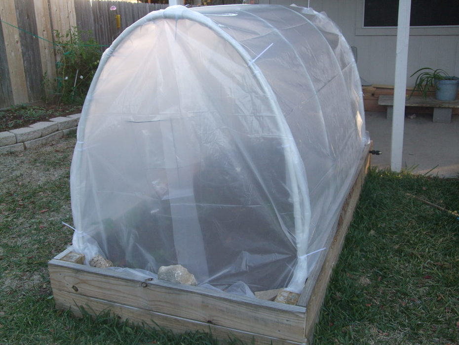 raised bed hoop house