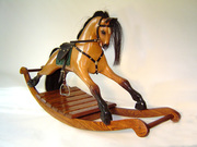 Bay wooden Rocking Horse by Tracy Kochanski