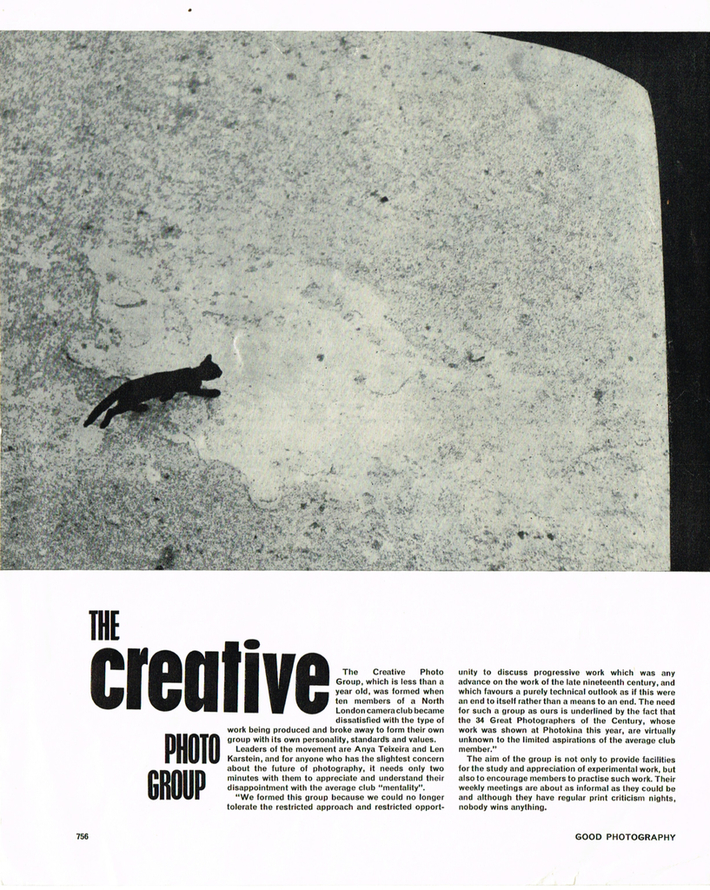 """Creative Photo Group: """"Good  Photography"""" Magazine discovers it in November1963"""