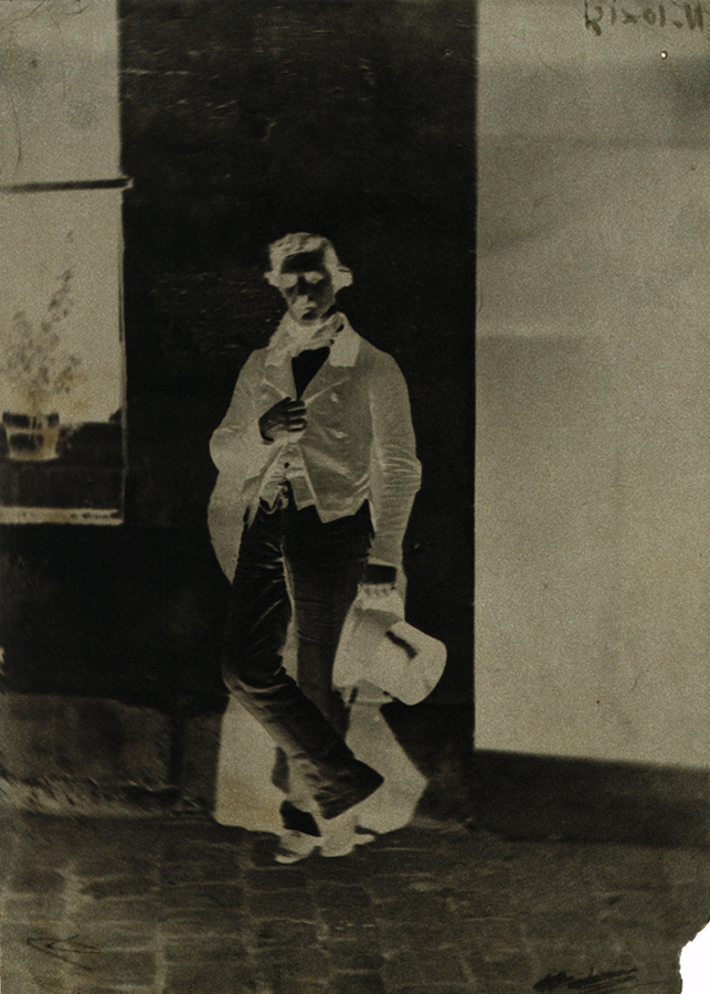 Charles Nègre: Self Portrait of Photographer in Front of Studio