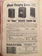 Adams Best Bag Changing Box advert - 1905