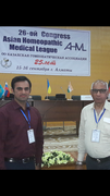 Kaartik Gupta,Clinical Psychologist & Prof. Dr.A.K.Gupta at almaty kazakhstan conference