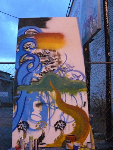 Local Artists create a mural for the occasion
