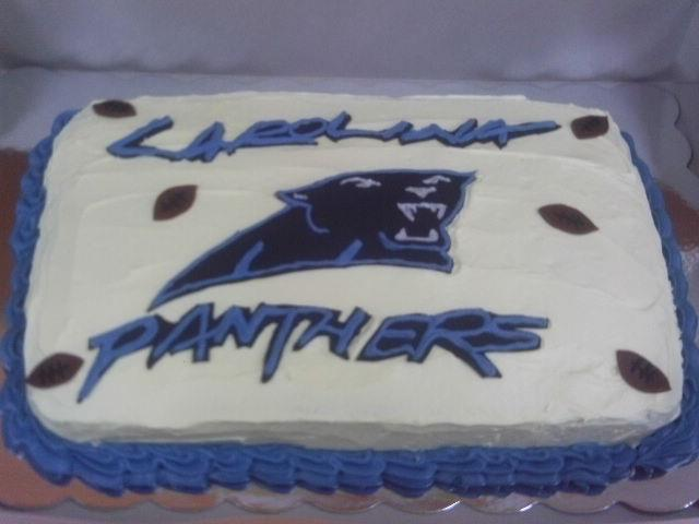 CAROLINA PANTHERS FOOTBALL CAKE