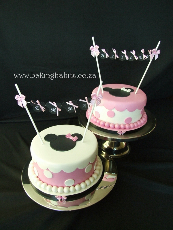 Minnie Mouse Cakes for Twins