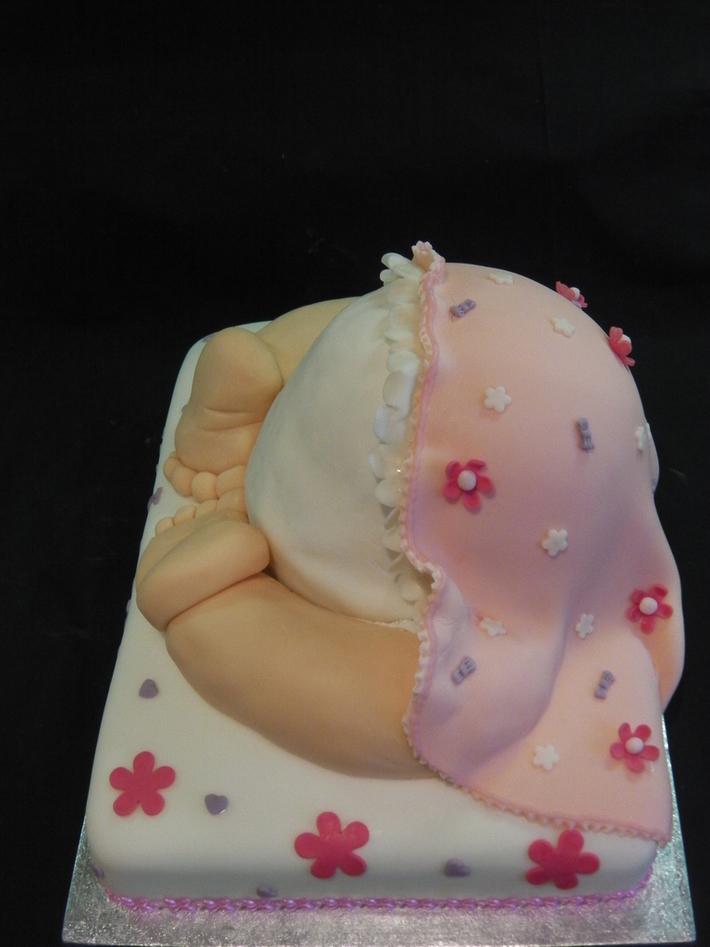 Baby bum Shower Cake