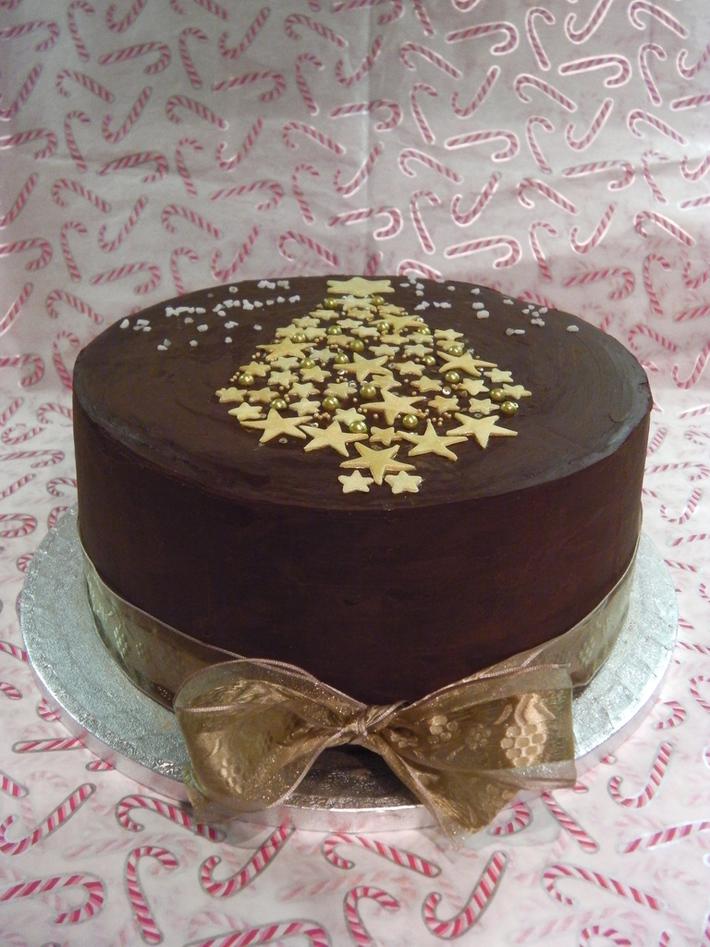 Chocolate Covered Christmas Cake