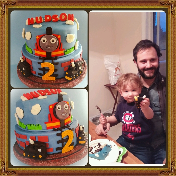 James the Red Engine Cake