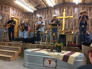 Sue Ann with the Western Way Cowboy Church Band
