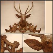 coat rack with a deer 1880