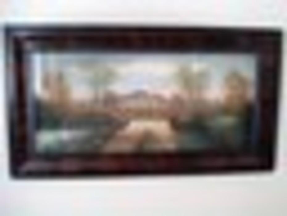 antique pastel landscape