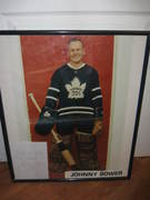 Johnney Bower Hall Of Famer Picture and Autograph