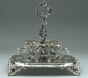 French Silver Cruet Stand (After)