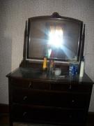 Antique Matching Dresser w Mirror