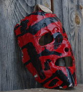 father and son pond hockey masks