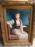 OIL ON CANVAS, EMPIRE LADY