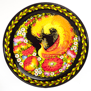 Decorative Wood Lacquer Painted Wall Plate
