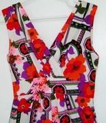 1960's Maxi Dress* Nylon Jersey Super Hot Florals