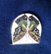 1930's cloisonné butterfly tape measure
