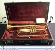 Vintage Carl Fisher Trumpet and Case
