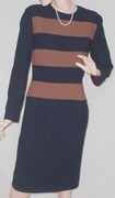 Vintage 1970's Scaasi Wiggle Office Day Dress-100% Wool