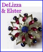 DeLizza & Elster Star Brooch