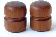 Mid Century Modern Danish Teak Salt and Pepper Shakers by EdibleComplex on Etsy