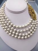 Faux Pearl Necklace 4 Strand by Geno