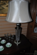 Beautiful Nickel Plate & Crystal Base Table Lamp with Cut design - Copy