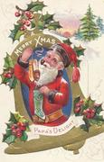 Santa with pipe and shoes