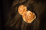Golden Rosettes with black stamen accents