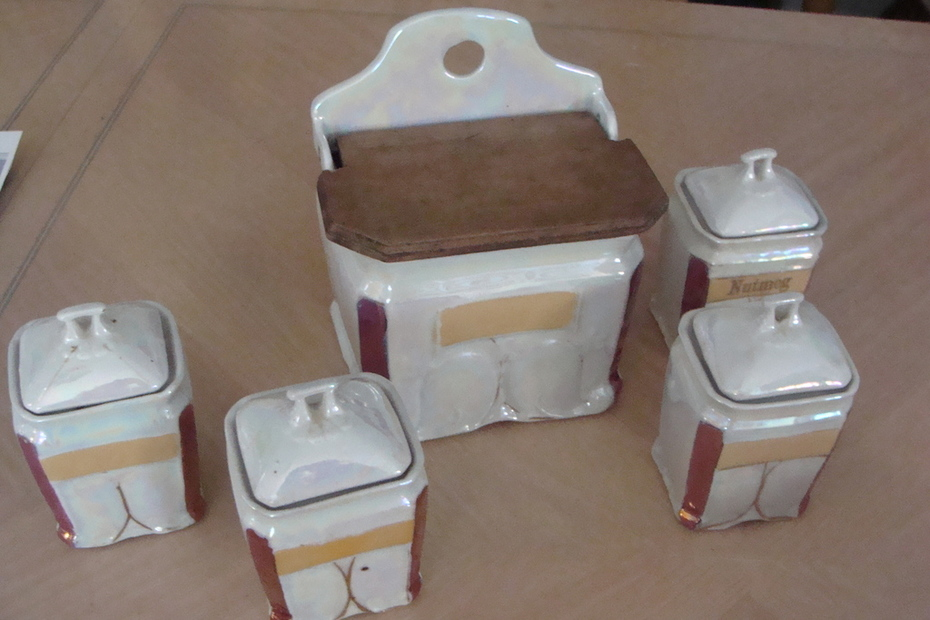 Salt Box and Spice Jars