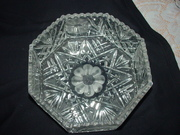 Octagon Shaped Cyrstal Bowl - Unknown Maker