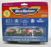 Galoob Micro Machines Super 4X4 Collection from 1988