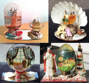 Old Glass snow globes from Italy