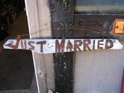 Just Married sign..$10