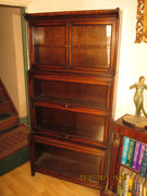 Early 20th century barrister's bookcase, oak (a)