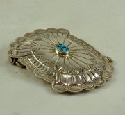 Sterling turquoise belt buckle
