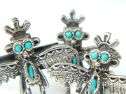 Native American Bird Man Cufflinks and Tie Clip Eagle Thunder Bird Jewelry For Men Southwestern Accessory