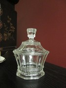 HEISEY URN Pattern Covered Sugar Bowl Jar w Lid OCTAGON SHAPE Ribs Panels