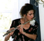 Amy Playing the Flute at a Wedding